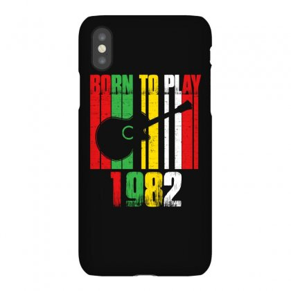 Born To Play Guitar 1982 T Shirt Iphonex Case Designed By Hung
