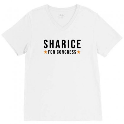 Sharice Davids Kansas For Congress V-neck Tee Designed By Balqis Tees