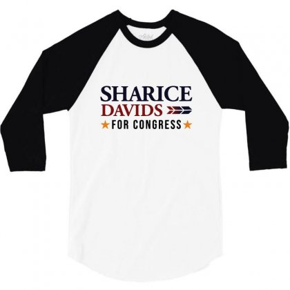 Sharice Davids For Congress 3/4 Sleeve Shirt Designed By Balqis Tees