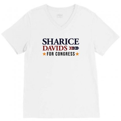 Sharice Davids For Congress V-neck Tee Designed By Balqis Tees