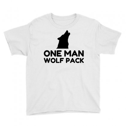One Man Wolf Pack Youth Tee Designed By Perfect Designers