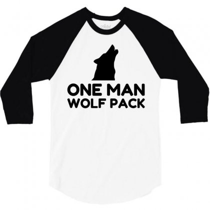 One Man Wolf Pack 3/4 Sleeve Shirt Designed By Perfect Designers