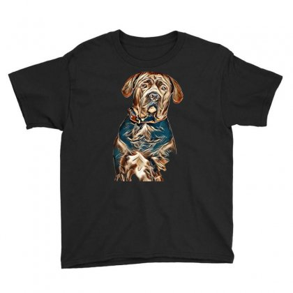 Portrait Of A Sad Dog. Muzzle In Full Face. In Isolation. Youth Tee Designed By Kemnabi