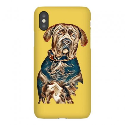 Portrait Of A Sad Dog. Muzzle In Full Face. In Isolation. Iphonex Case Designed By Kemnabi