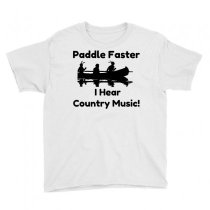Paddle Faster Country Music Youth Tee Designed By Perfect Designers