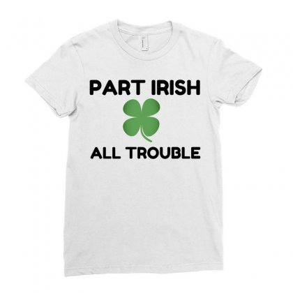 Part Irish Ladies Fitted T-shirt Designed By Perfect Designers
