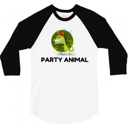 Party Animal 3/4 Sleeve Shirt Designed By Perfect Designers