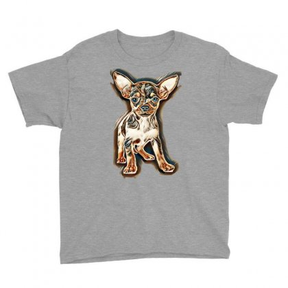 Little Chihuahua In Front Of White Background Youth Tee Designed By Kemnabi