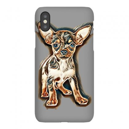 Little Chihuahua In Front Of White Background Iphonex Case Designed By Kemnabi