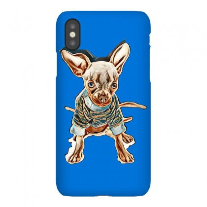 Our 4 1/2 Month Old Rescue Chihuahua Named Chilli. Blue In Colour. Wea Iphonex Case Designed By Kemnabi