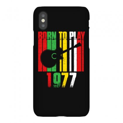 Born To Play Guitar 1977 T Shirt Iphonex Case Designed By Hung