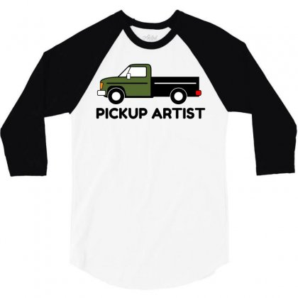 Pickup Artist Truck 3/4 Sleeve Shirt Designed By Perfect Designers