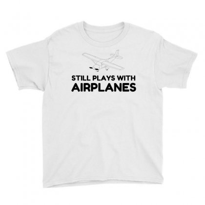 Plays With Airplanes Youth Tee Designed By Perfect Designers