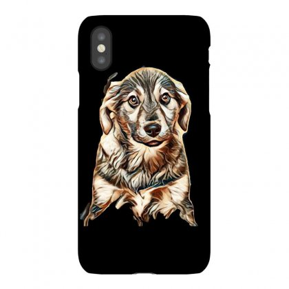 Puppy, Shepherd's Half-breed On A Brown Background Iphonex Case Designed By Kemnabi