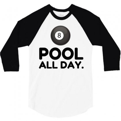 Pool All Day 3/4 Sleeve Shirt Designed By Perfect Designers