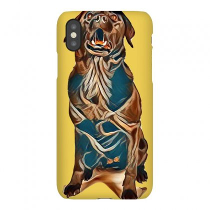 Funny Black Labrador Is Sitting In The White Studio And Catching Flyin Iphonex Case Designed By Kemnabi