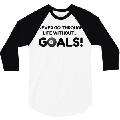 Pool Goals 3/4 Sleeve Shirt Designed By Perfect Designers