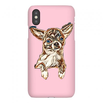 Cute Chihuahua Puppy Above Banner, Isolated On White Background. Baby Iphonex Case Designed By Kemnabi