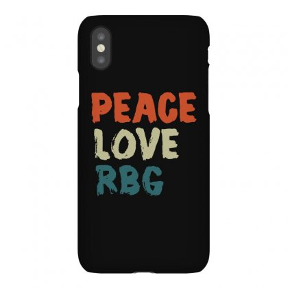 Peace Love Rbg Shirt Ruth Bader Ginsburg Retro Vintage Iphonex Case Designed By Balqis Tees