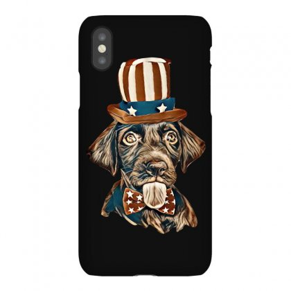 Cute Chocolate Labrador Retriever In Uncle Sam Hat And Bow Tie Iphonex Case Designed By Kemnabi