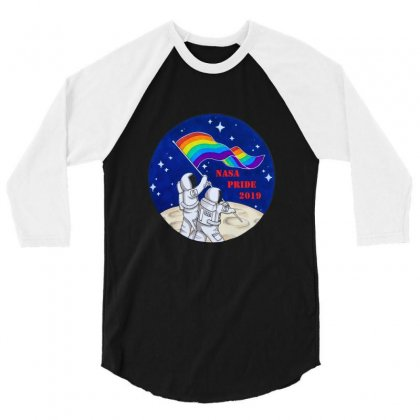 Nasa Pride 2019 3/4 Sleeve Shirt Designed By Balqis Tees
