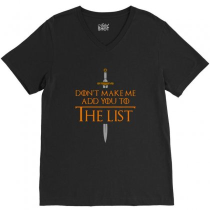 Medieval Throne V-neck Tee Designed By Balqis Tees