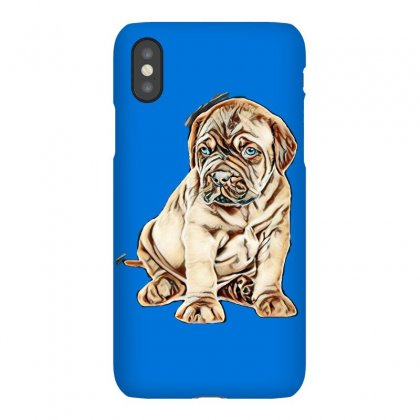 Portrait Of A Bordeaux Puppy. Isolated On White Background Iphonex Case Designed By Kemnabi