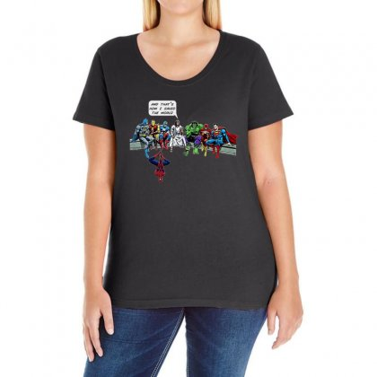 And That's How I Saved The World Ladies Curvy T-shirt Designed By Fejena