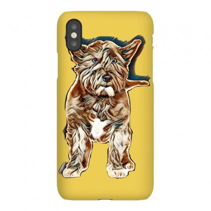 Black West Highland Terrier In Front Of A White Background Iphonex Case Designed By Kemnabi