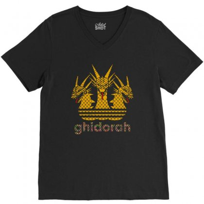 Ghidorah V-neck Tee Designed By Balqis Tees