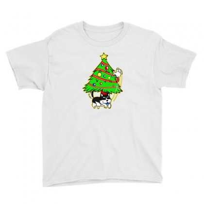 Husky Christmas Youth Tee Designed By Lotus Fashion Realm