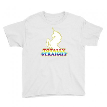 Horses Totally Straight Youth Tee Designed By Lotus Fashion Realm
