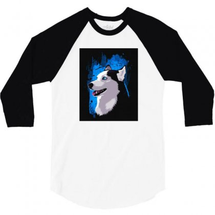 Husky Stain 3/4 Sleeve Shirt Designed By Lotus Fashion Realm