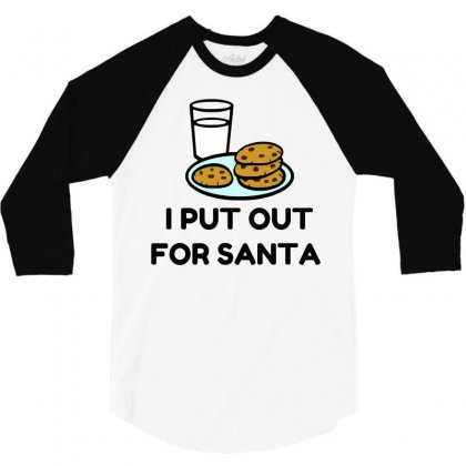 Put Out For Santa Cookies 3/4 Sleeve Shirt Designed By Perfect Designers