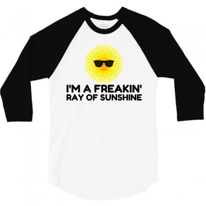 Ray Of Sunshine 3/4 Sleeve Shirt Designed By Perfect Designers