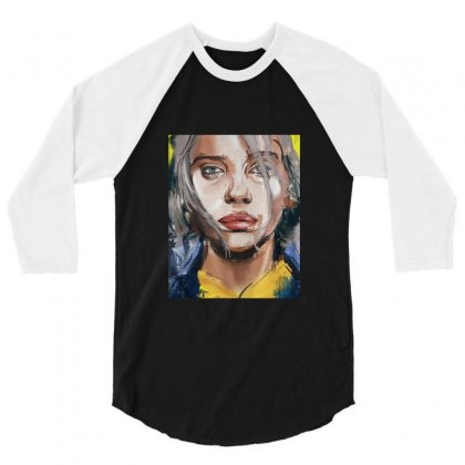 Billie Lover Eilish 3/4 Sleeve Shirt Designed By Balqis Tees