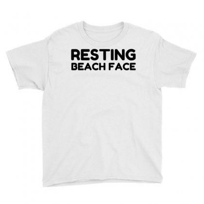 Resting Beach Face Youth Tee Designed By Perfect Designers