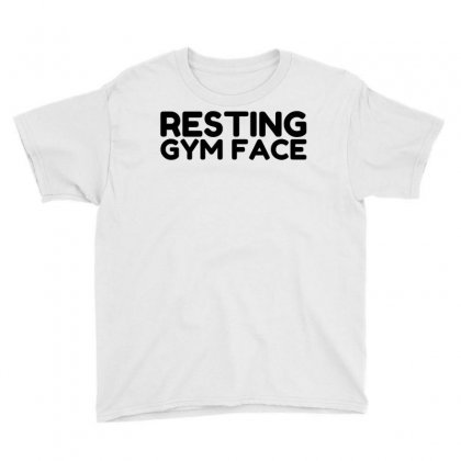 Resting Gym Face Youth Tee Designed By Perfect Designers