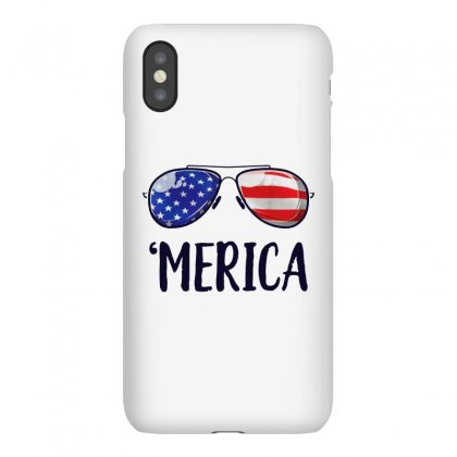 4th Of July Merica Sunglasses Iphonex Case Designed By Balqis Tees