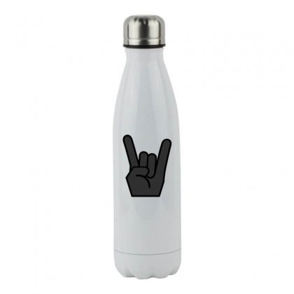 Rock Finger Symbol Stainless Steel Water Bottle Designed By Perfect Designers