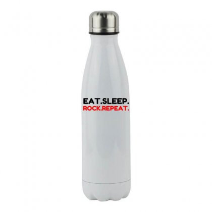 Rock Repeat Stainless Steel Water Bottle Designed By Perfect Designers