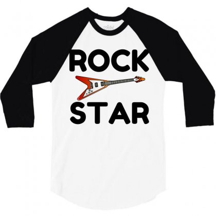 Rock Star 3/4 Sleeve Shirt Designed By Perfect Designers