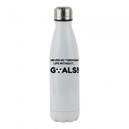 Soccer Goals Stainless Steel Water Bottle Designed By Perfect Designers