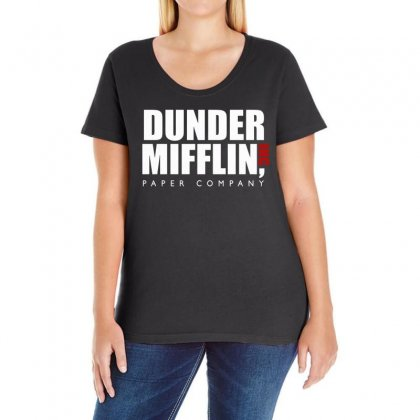 Dunder Mifflin The Office Ladies Curvy T-shirt Designed By Fejena