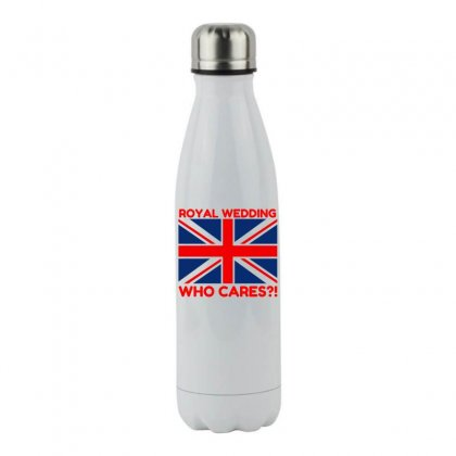 Royal Wedding Who Cares Stainless Steel Water Bottle Designed By Perfect Designers