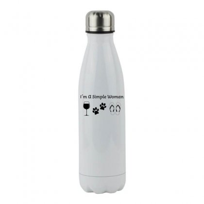 I Am A Simple Woman Stainless Steel Water Bottle Designed By Honeysuckle