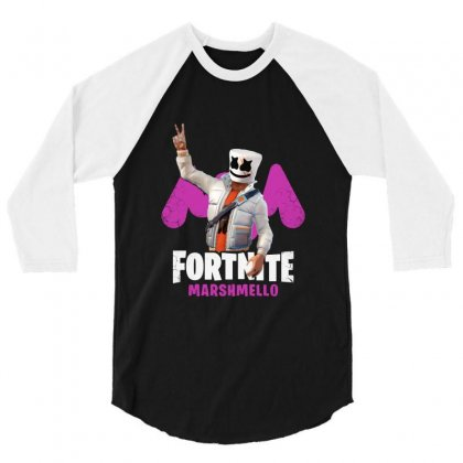 Funny Peace Fortnite Marshmello 3/4 Sleeve Shirt Designed By Balqis Tees