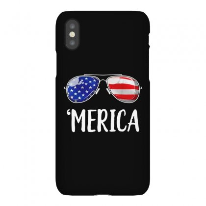 Merica Sunglasses 4th Of July Iphonex Case Designed By Balqis Tees