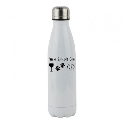 I Am A Simple Girl Stainless Steel Water Bottle Designed By Honeysuckle
