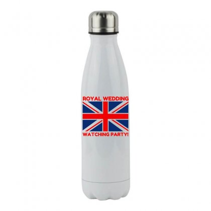 Royal Wedding Watching Party! Stainless Steel Water Bottle Designed By Perfect Designers